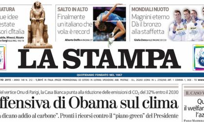 Le prime pagine dei giornali lunedì 3 agosto 2015