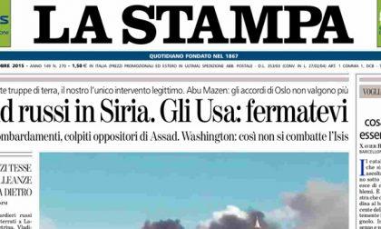 Le prime pagine dei giornali giovedì 1 ottobre 2015
