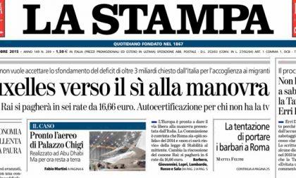 Le prime pagine dei giornali martedì 20 ottobre 2015