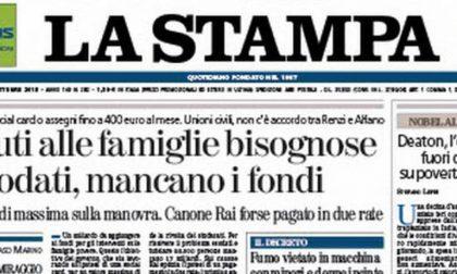 Le prime pagine dei giornali martedì 13 ottobre 2015