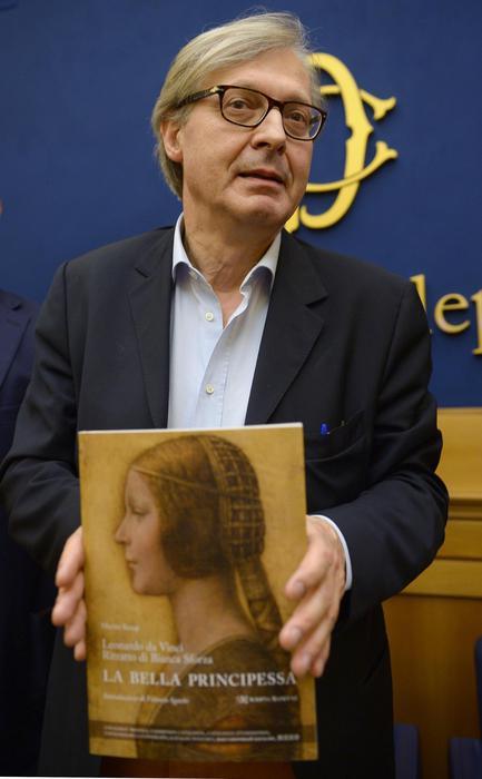 """Cultura: Sgarbi presenta """"La bella Principessa"""" di Leonardo"""