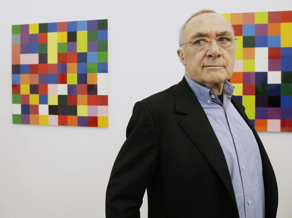 German artist Gerhard Richter attends th