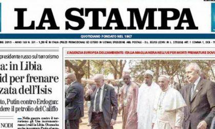 Le prime pagine dei giornali martedì 1 dicembre 2015