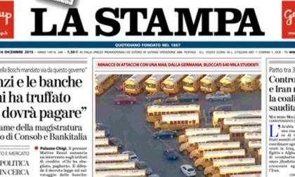 Le prime pagine dei giornali mercoledì 16 dicembre 2015