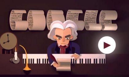 Il doodle di Google per Beethoven Giocateci anche voi, è troppo bello!