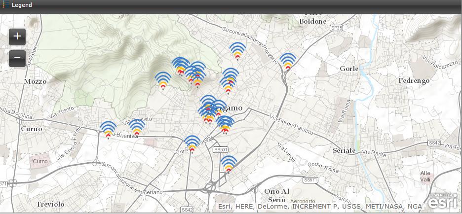 cartina wifi