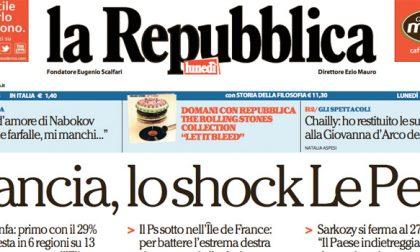 Le prime pagine dei giornali lunedì 7 dicembre 2015