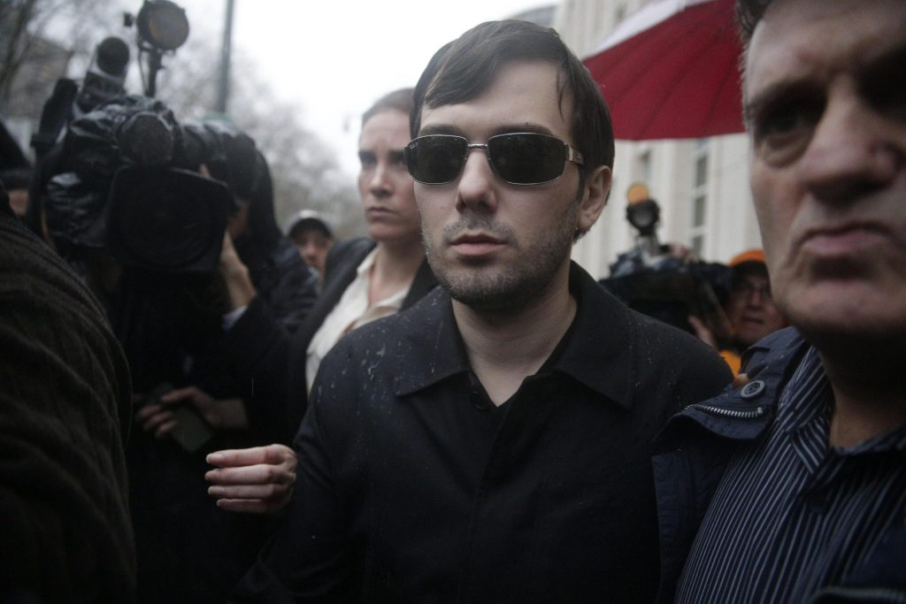Martin  Shkreli charged with defrauding investors