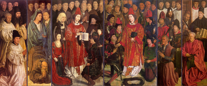 Nuno Gonçalves on several later fifteenth-century (third quarter) panels now in the Museu Nacional de Arte Antiga in Lisbon