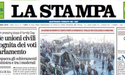 Le prime pagine dei giornali lunedì 1 febbraio 2016