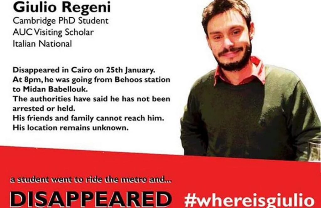 Studente scomparso Cairo, da famiglia nessuna novità