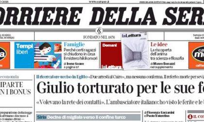 Le prime pagine dei giornali sabato 6 febbraio 2016