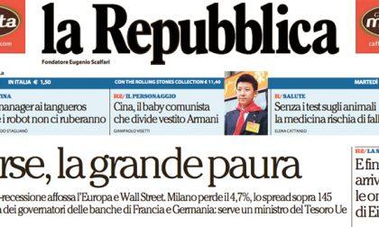 Le prime pagine dei giornali martedì 9 febbraio 2016