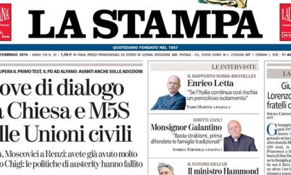 Le prime pagine dei giornali mercoledì 3 febbraio 2016