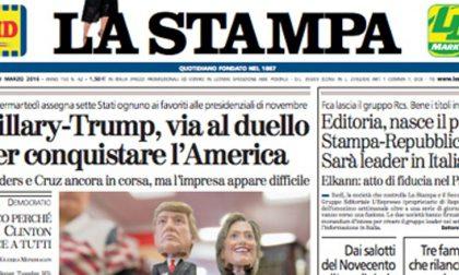 Le prime pagine dei giornali giovedì 3 marzo 2016