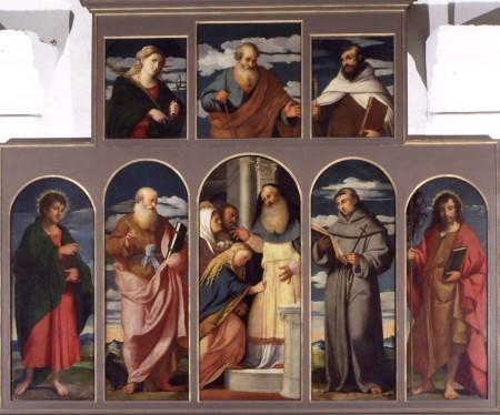 2BIS - Palma il Vecchio sec. XVI, Polittico della Purificazione di Maria-Chiesa di Santa Maria Annunziata