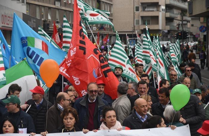 corteo sciopero Italcementi Bedolis 2