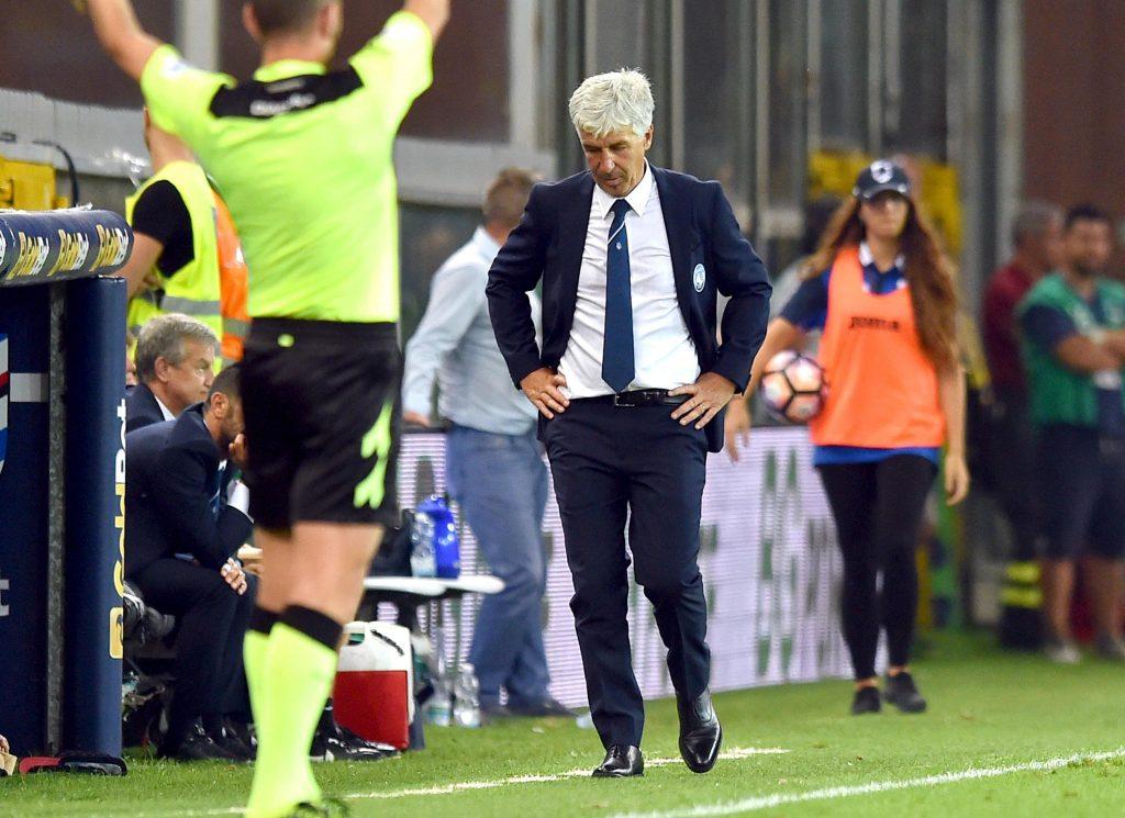 Serie A soccer match Uc Sampdoria vs Atalanta