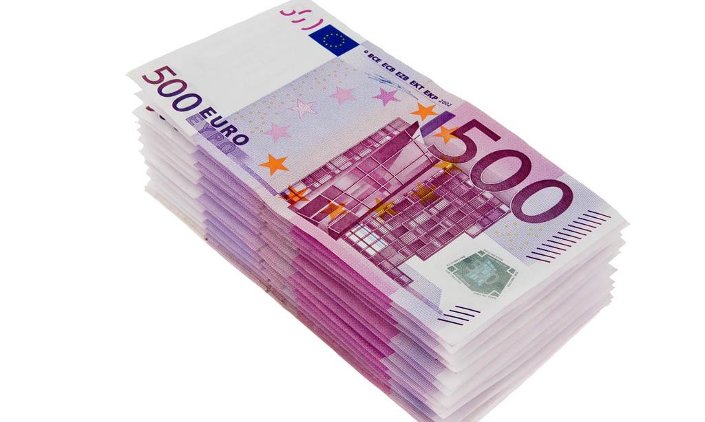 Geldscheine der europäischen Euro-Währung