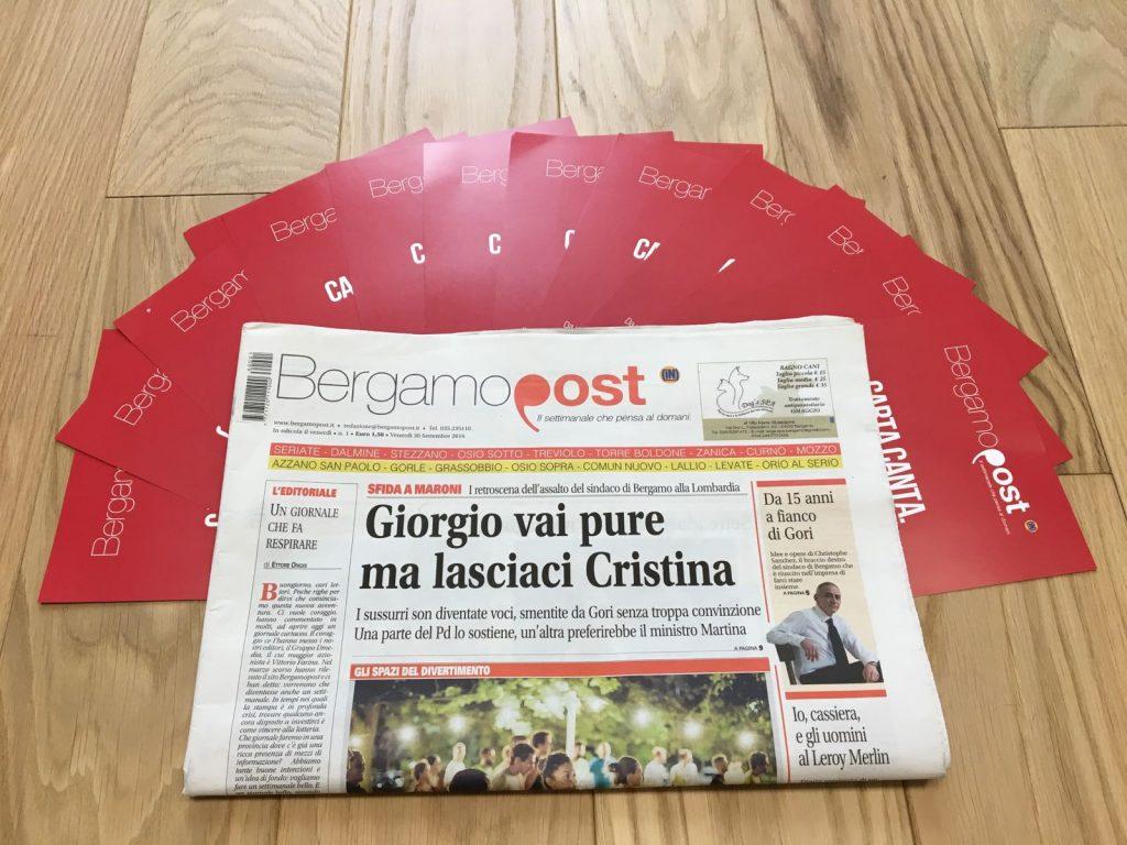 Bergamopost cartaceo settimanale primo numero