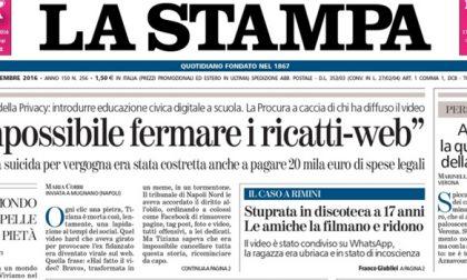Le prime pagine dei giornali giovedì 15 settembre 2016