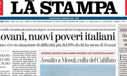 Le prime pagine dei giornali martedì 18 ottobre 2016