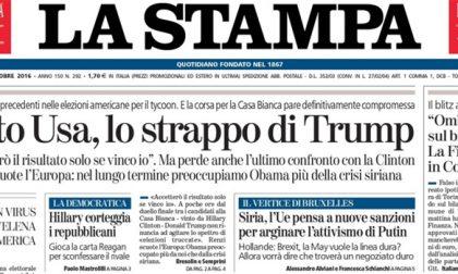 Le prime pagine dei giornali venerdì 21 ottobre 2016