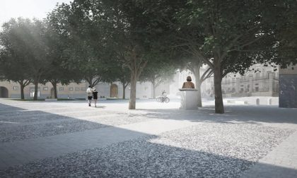 Com'era una volta Piazza Carrara appena rinata e inaugurata