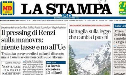 Le prime pagine dei giornali martedì 28 marzo 2017