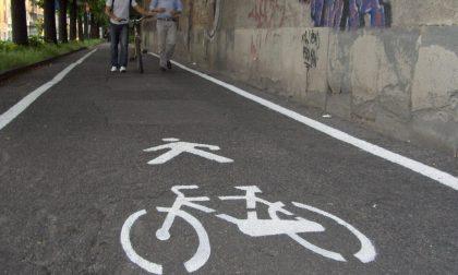 Una mappa delle piste ciclabili Con linee colorate in stile metrò