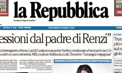 Le prime pagine dei giornali venerdì 3 marzo 2017