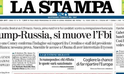 Le prime pagine dei giornali martedì 21 marzo 2017