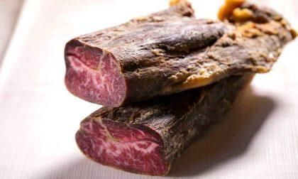 Una chicca: la bresaola alla Braseria preparata con la carne di Wagyu