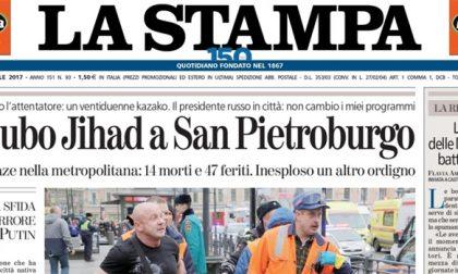 Le prime pagine dei giornali martedì 4 aprile 2017