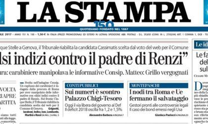 Le prime pagine dei giornali martedì 11 aprile 2017