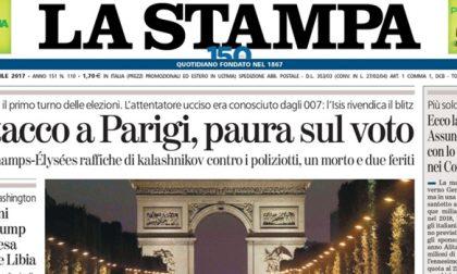 Le prime pagine dei giornali venerdì 21 aprile 2017