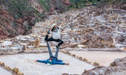 Dall'Adda (e dalle Alpi) alle Ande per diventare maestra di acroyoga
