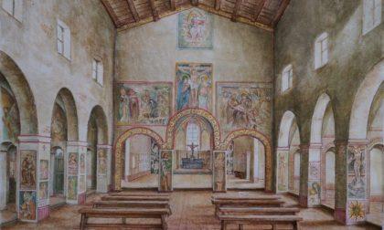 La chiesa scomparsa di Gandino rivive nei disegni di Bepi Rottigni