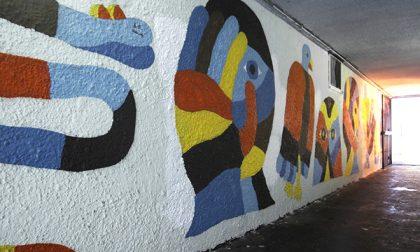 Murales d'artista per via Codussi Di Geometric Bang (e dei rifugiati)