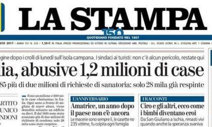 Le prime pagine dei giornali giovedì 24 agosto 2017