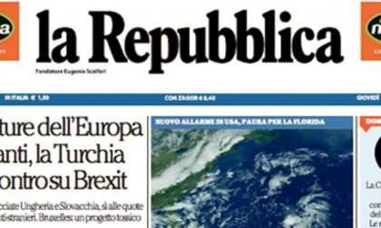 Le prime pagine dei giornali giovedì 7 settembre 2017
