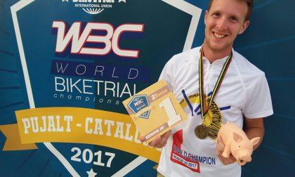 Il grande salto di Luca con la bici Campione mondiale di biketrial