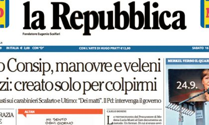 Le prime pagine dei giornali sabato 16 settembre 2017