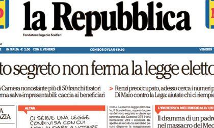 Le prime pagine dei giornali venerdì 13 ottobre 2017