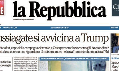 Le prime pagine dei giornali martedì 31 ottobre 2017