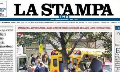 Le prime pagine dei giornali mercoledì 1 novembre 2017