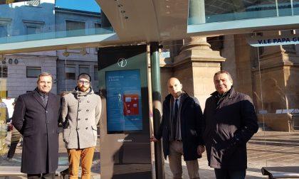 Pensiline degli autobus digitali Bergamo prima città in Italia