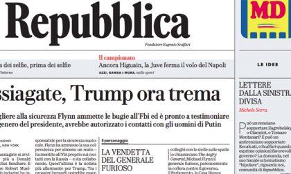 Le prime pagine dei giornali sabato 2 dicembre 2017
