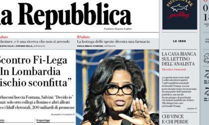 Le prime pagine dei giornali martedì 9 gennaio 2018