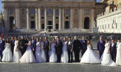 L'emozione degli sposi di Mozzo a Roma per incontrare il Papa